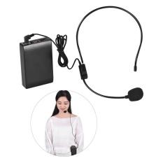Promo Portable Fm Headset Mikrofon Nirkabel Sistem Suara Amplifier 1 4In Output Plug Dengan Bodypack Transmitter Receiver Untuk Guru Speaker Instruktur Yoga Presenter Dosen Konferensi Speech Promosi