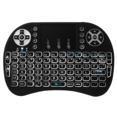 Jual Portable I8 Backlight Touchpad 2 4Ghz Mini Wireless Keyboard Mouse Combo Ac397 Intl Baru