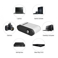 Portable Kit LCD Proyektor Multimedia Home Theater Dukungan 1080 P HDMI USB TF Card AV EU Plug-Intl