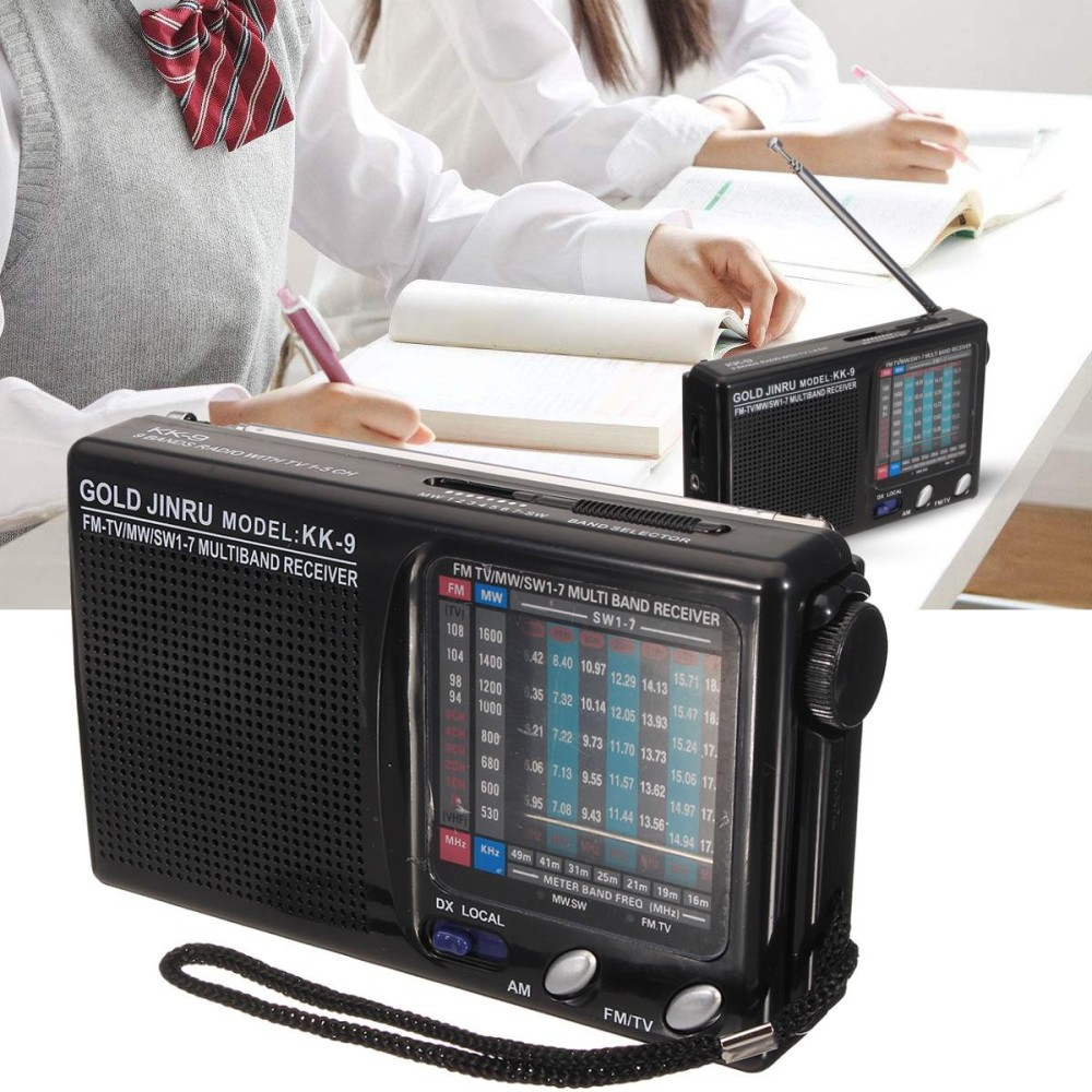 Portable KK-9 FM Pocket Radio 9 Dunia Band Receiver Digital AM/MW/SW/Mode Stereo-Intl