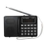 Portable Lcd Fm Am Sw Radio Stereo Speaker Music Player Audio Micro Sd Usb Aux Hitam Intl Tiongkok