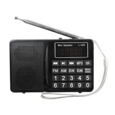 Harga Portable Lcd Fm Am Sw Radio Stereo Speaker Music Player Audio Micro Sd Usb Aux Hitam Intl Oem