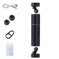 Toko Portable Mini Bluetooth Earpiece Binaural Nirkabel Bluetooth Headset 4 1 Tws Dipisahkan Telinga Stereo Gerakan Penyumbat Telinga Hitam Intl Yang Bisa Kredit