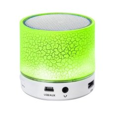 Review Toko Portable Mini Bluetooth Speaker Tf Usb Fm Wireless Music Sound Box Subwoofer Loudspeakers Microphone With Led Lights For Phone Pc Green