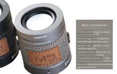 Spesifikasi Portable Boom Mini 3 5 Mm Bass Mini Bluetooth Speaker M5 Gray Lengkap