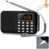 Jual Portable Mini Digital Fm Pocket Radio Speaker Mp3 Music Player Mendukung Kartu Tf Usb Disk Dengan Tampilan Layar Led Dan Fungsi Senter Darurat Intl Oem Asli