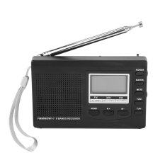 Jual Portabel Mini Radio Fm Mw Sw Penerima With Digital Alarm Clock Fm Radio Penerima Hitam Import