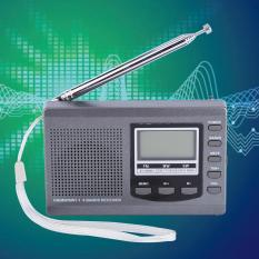 Ulasan Portabel Mini Radio Fm Mw Sw Penerima With Digital Alarm Clock Fm Radio Receiver Abu Abu