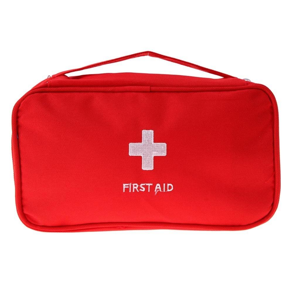 Cuci Gudang Portable Pertolongan Pertama Darurat Medis Besar Survival Casing Merah