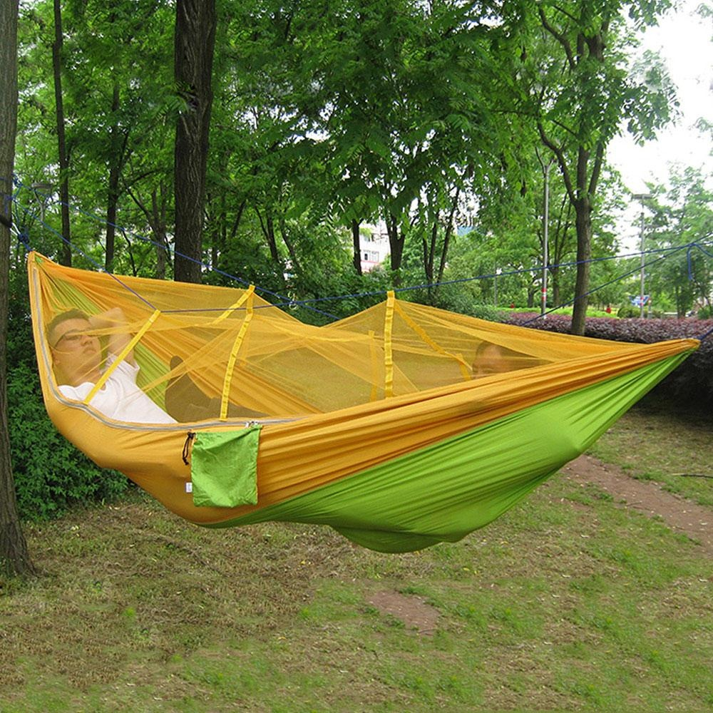 Promo Portable Single Person Mosquito Net Hammock Hanging Bed For Travel Camping Intl Tiongkok