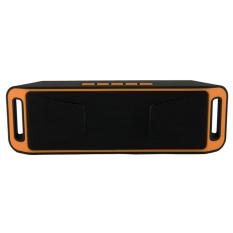 Harga Speaker Portabel Bluetooth Nirkabel 4 Stereo Subwoofer Speaker Tf Usb Fm Radio Built In Mic Dual Orange Terbaik