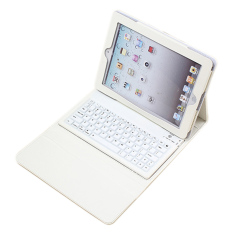 Spesifikasi Silicon Nirkabel Portabel Bluetooth Keyboard Pu Kulit Melindungi Case Penutup Untuk Ipad 2 3 4 Putih Paling Bagus