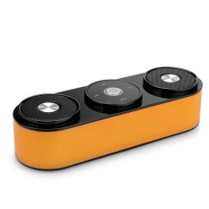 Portable Wireless Stereo Bluetooth Speaker With Microphone SupportFM Radio TF Card Play Touch Control (Orange)