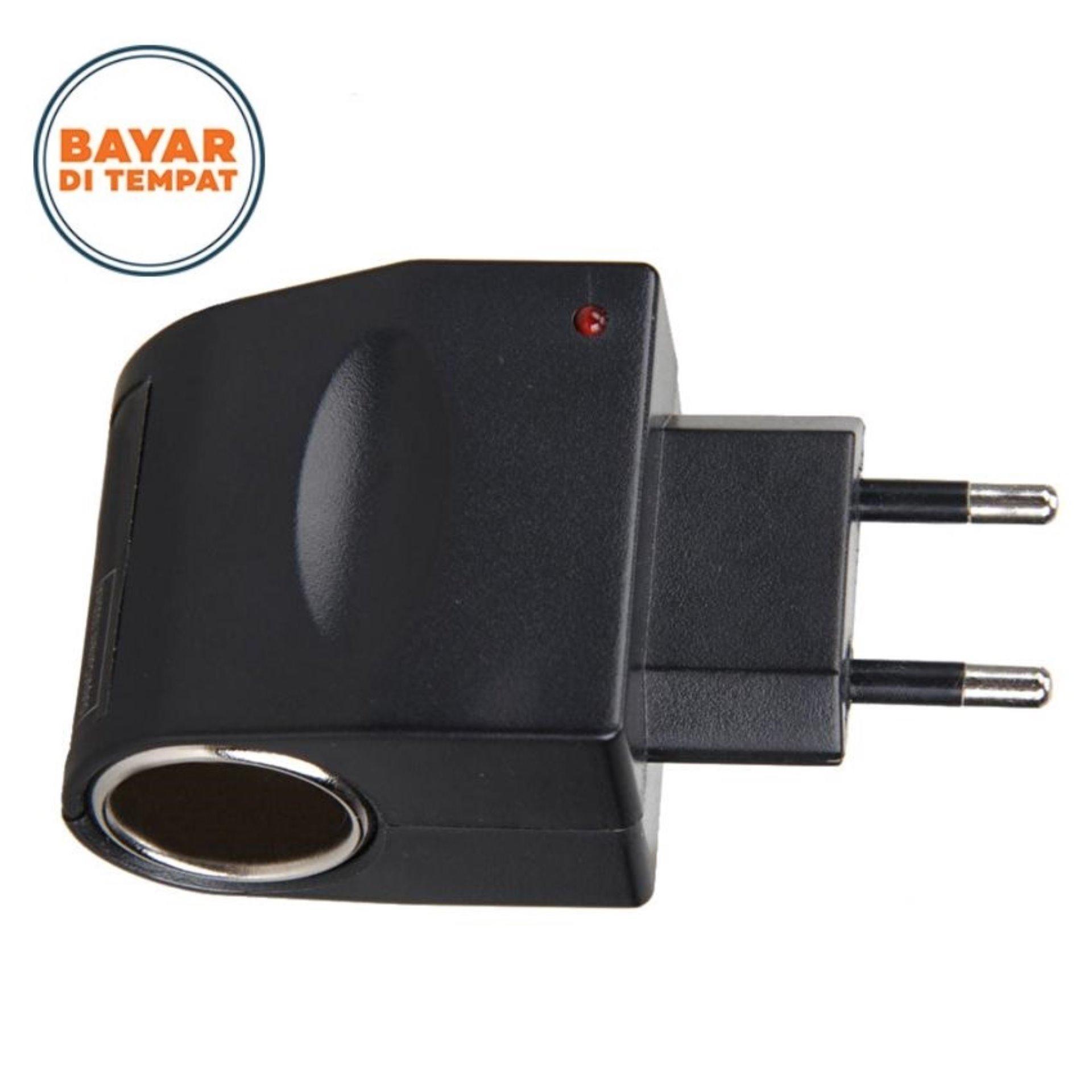 Power Adapter Car Lighter Socket 110V-220V AC 12V DC - Hitam