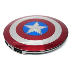 Beli Power Bank Perisai Captain America 2 Port 6800Mah Power Bank Online