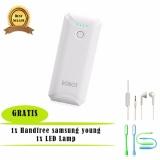 Harga Power Bank Robot Rt5600 5200Mah Putih Samsung Handsfree Headset Earphone For S6310 5360 Putih Usb Led Lamp Robot