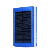 Jual Power Bank Solar Charger 30000 Mah And Led Powerbank Biru Power Bank Branded