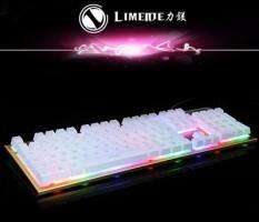 Daya Magnesium TX30 Backlit Permainan Keyboard Komputer CFLOL Bercahaya Mesin Pegangan Suspensi Tombol Kabel USB Keyboard-Internasional