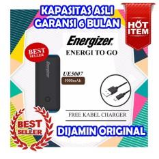 Powerbank energizer 5000 mAh garansi 6 bulan original kapasitas asli real hitam