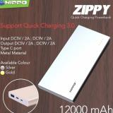 Beli Powerbank Hippo Zippy 12000 Mah Fast Quick Charging 3 Online Indonesia