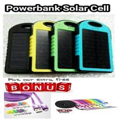 Powerbank PB Solar Cell Tenaga Surya Matahari 100.000mAh  free kabel data pipih