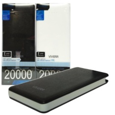 Powerbank Viverr Universal 20 000Mah Model Slim Micro Usb For Samsung Oppo Htc Xiaomi Putih Hitam Universal Diskon 40