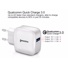 Harga Powstro Qualcomm 3 Quick Charger Usb Eu Us Plug Wall Charger Original