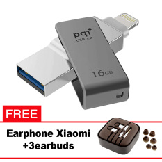 Pqi iConnect Mini OTG Flashdisk Lightning Apple & USB 3.0 - 16GB Abu-abu + FREE Xiaomi Earphone  - pqi iconnect mini otg flashdisk lightning apple amp usb 30 16gb abu abu free xiaomi earphone 8225 9475209 c7ff172ce2806e21005c1d81b9330bda catalog 233 - Update Harga Terbaru Hp Xiaomi Redmi 4a Support Otg Agustus 2018