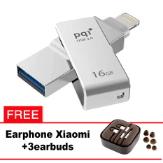 Pqi iConnect Mini OTG Flashdisk Lightning Apple & USB 3.0 - 16GB Silver + FREE Xiaomi Earphone  - pqi iconnect mini otg flashdisk lightning apple amp usb 30 16gb silver free xiaomi earphone 8222 8475209 c98c16e414065ab00e437131f3d5c7cf catalog 233 - Update Harga Terbaru Hp Xiaomi Redmi 4a Support Otg Agustus 2018