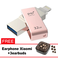 Pqi iConnect Mini OTG Flashdisk Lightning Apple & USB 3.0 - 32GB Rose Gold + FREE Xiaomi Earphone  - pqi iconnect mini otg flashdisk lightning apple amp usb 30 32gb rose gold free xiaomi earphone 8225 4575209 6b5e26c0b54f51fab66787f7012e9dfb catalog 233 - Update Harga Terbaru Hp Xiaomi Redmi 4a Support Otg Agustus 2018