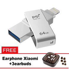 Pqi iConnect Mini OTG Flashdisk Lightning Apple & USB 3.0 - 64GB Silver + FREE Xiaomi Earphone  - pqi iconnect mini otg flashdisk lightning apple amp usb 30 64gb silver free xiaomi earphone 8225 9575209 271a3e757193a730e722d5177efe634a catalog 233 - Update Harga Terbaru Hp Xiaomi Redmi 4a Support Otg Agustus 2018