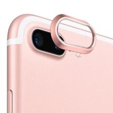 Mewah Praktis Aluminium Alloy Belakang Kamera Lensa Pelindung Cincin Guard Lingkaran Cover Lensa Protector Bumper Case untuk IPhone 7 Plus Rose Gold-Intl