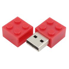 Praktis Promosi Merah USB Flash Drive 8 GB Rubik Bentuk Pen Drive Metal USB Memory Stick Nyata Kapasitas Flashdisk- INTL