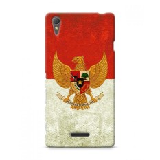 Premium Case Retro Garuda Indonesia Flag Sony Xperia T3 Hard Case Cover