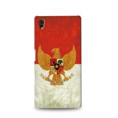 Premium Case Retro Garuda Indonesia Flag Sony Xperia Z4 Hard Case Cover