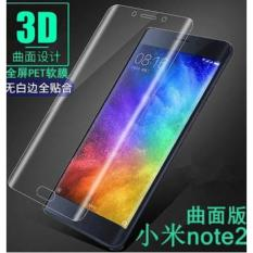 Premium HD Tempered Glass 9H For Xiaomi Mi Note 2 List Warna 3D 0.3mm Screen Protector - Bening