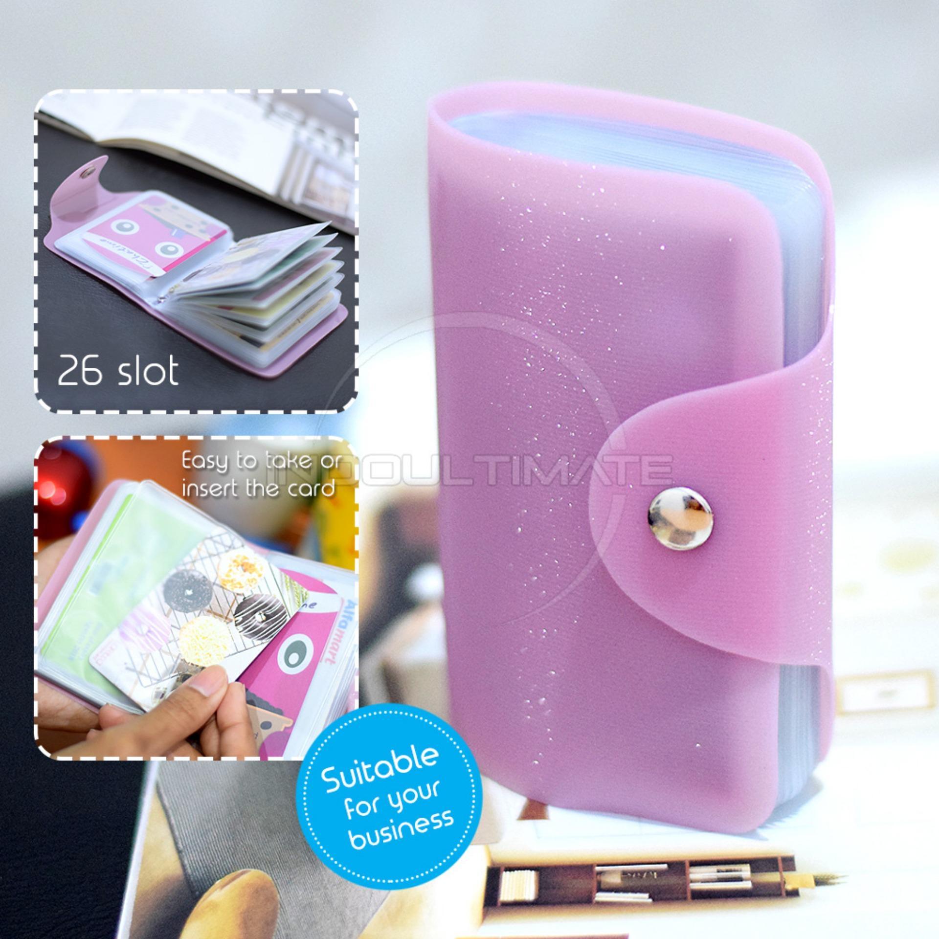 PREMIUM Korean Card Wallet 26 Slot /Dompet Kartu ATM/credit card OR 92-01 BLINK - Pink