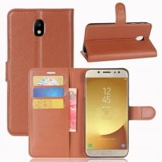 Premium Leather Flip Cover Wallet Phone Case untuk Samsung Galaxy J7 J730 2017/Galaxy J7 Pro-Intl
