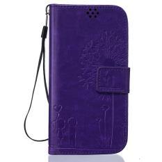 Penutup Magnetik Magnetik PU Leather Emboss Dandelion Dompet Pola Kasus dengan Slot Kartu Wrist Strap Flip Stand Cover untuk LG Leon C40/LG Tribute 2-Intl