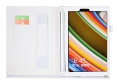 Premium PU Leather Case Stand Cover untuk Lenovo YOGA Tablet 2 1050F dengan Velcro Tali Pengikat dan Slot Kartu (putih) -Intl