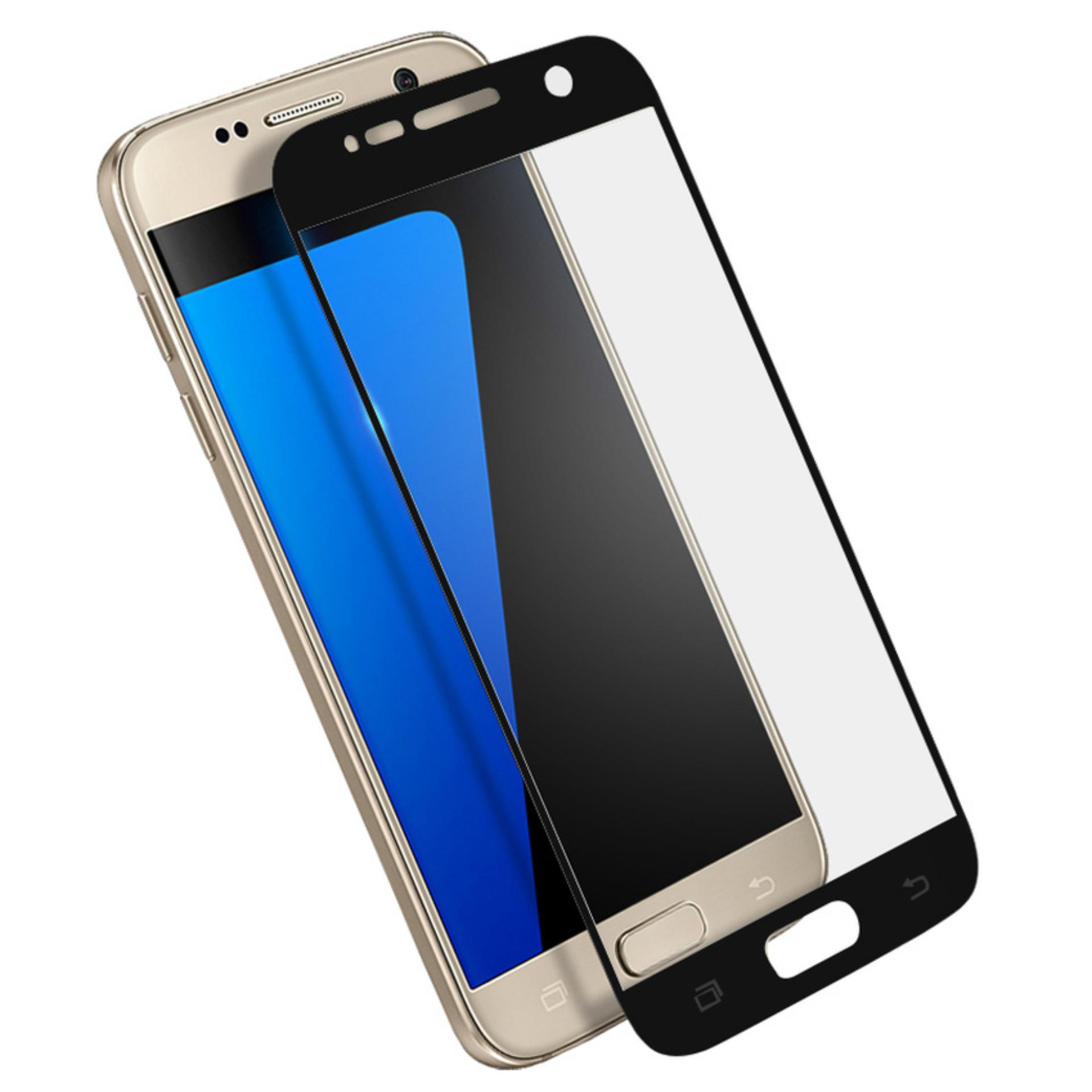 Vn Full Cover Samsung Galaxy S6 Flat (G920) / LTE / Duos | Premium 9H Tempered Glass 4D Screen Protector Film 0.32mm - Hitam