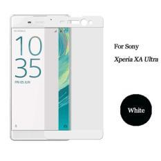 Beli Premium Tempered Glass Sony Xperia Xa Ultra Anti Gores Kaca Full Screen 2 5D List Warna Putih Cicil