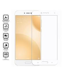 Premium Tempered Glass Xiaomi Mi 5c Anti Gores Kaca Full Screen 2.5D List Warna - Putih