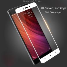 Premium Tempered Glass Xiaomi Redmi Note 4 Anti Gores Kaca Full Screen 2.5D List Warna - Putih