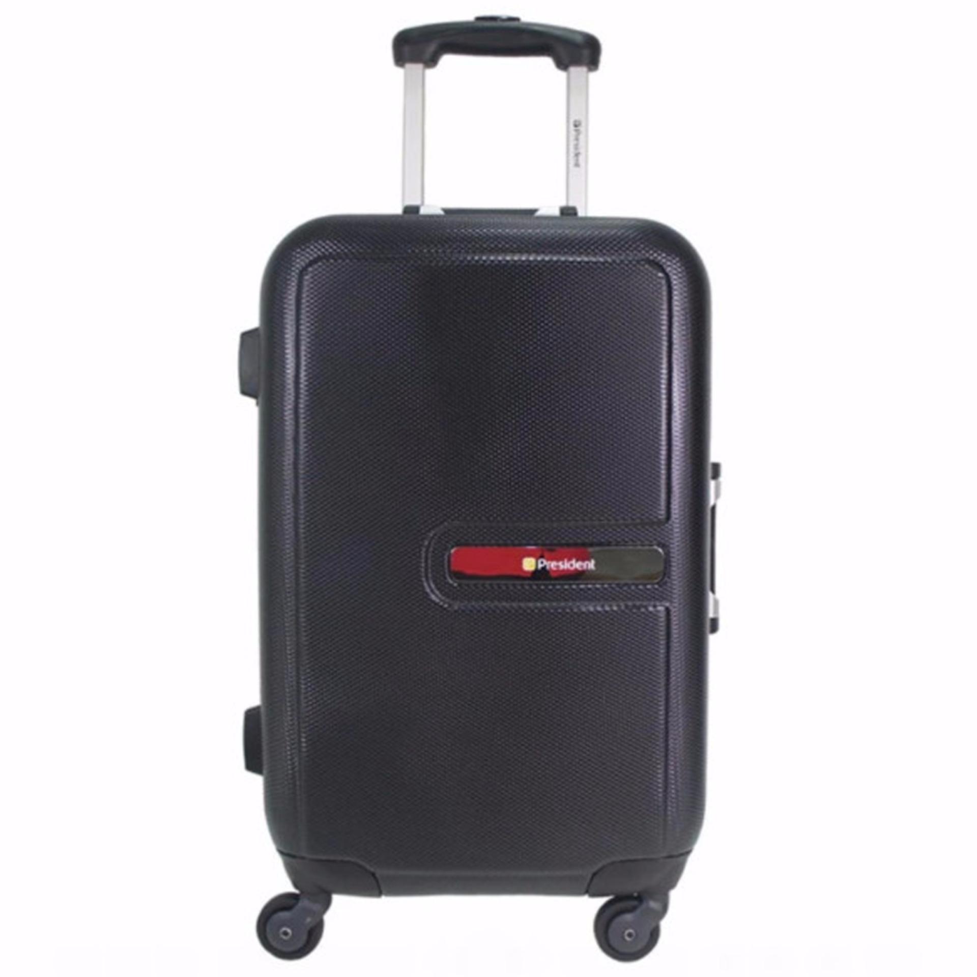 President Koper Hardcase Luggage 20 Inch 5267B-20 Travel Anti Theft Original - Black