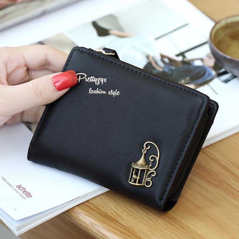 Toko Prettyzys Mini Wanita Dompet Kecil Wallet Hitam Murah Indonesia