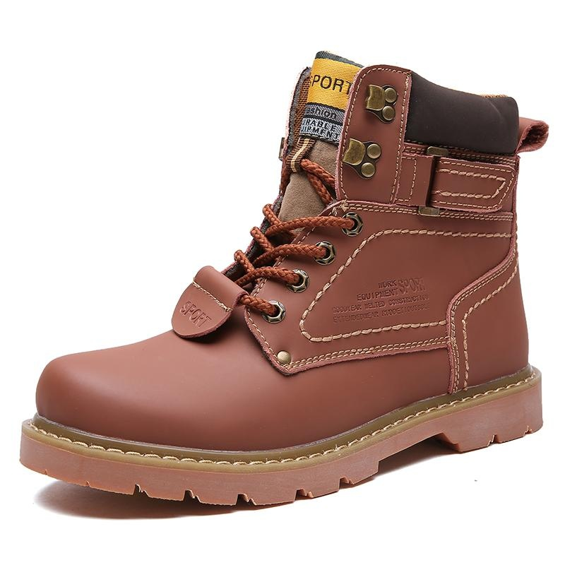 Beli Pria Big Yards Tinggi Untuk Membantu Mengikat Tide Sepatu 2017 Musim Gugur Dan Musim Dingin Baru Pasangan Non Slip British Wind Boots Plus Ukuran 35 46 Intl Cicilan