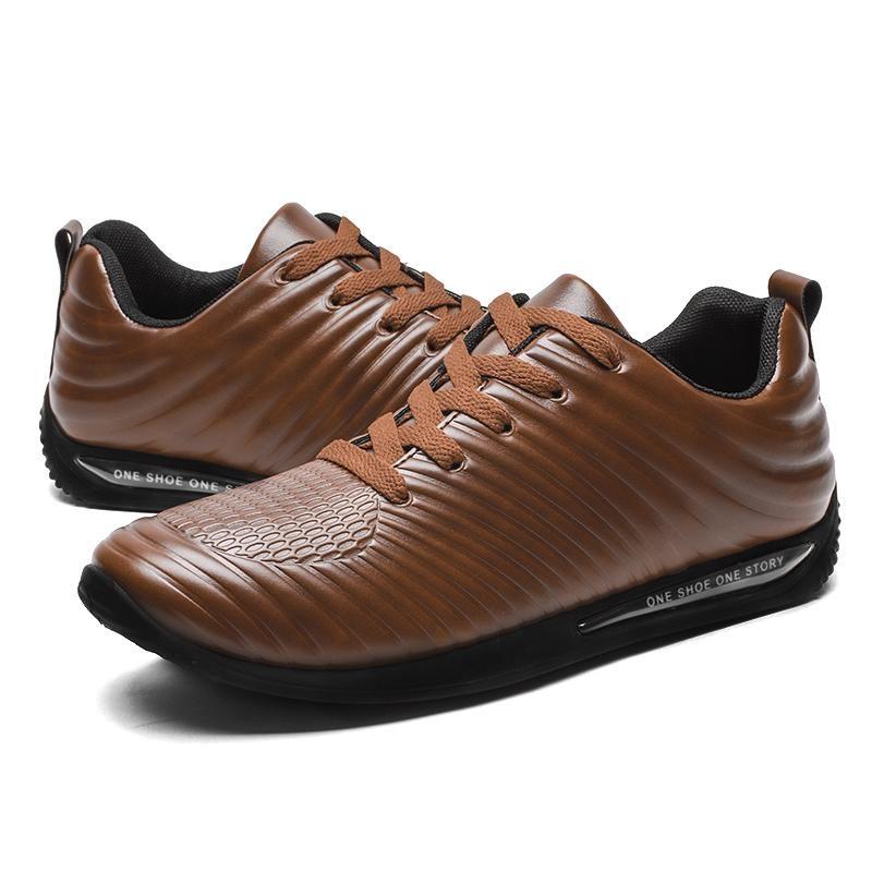 Beli Pria Fashion Board Sepatu Baru Desain Nyaman Air Cushion Sepatu Kulit Intl
