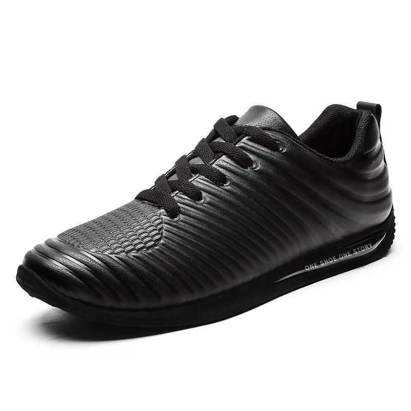 Tips Beli Pria Fashion Board Sepatu Baru Desain Nyaman Air Cushion Sepatu Kulit Intl