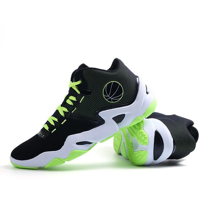 Harga Pria Fashion Luar Bola Basket Sepatu Olahraga Orange 8019 Intl Asli